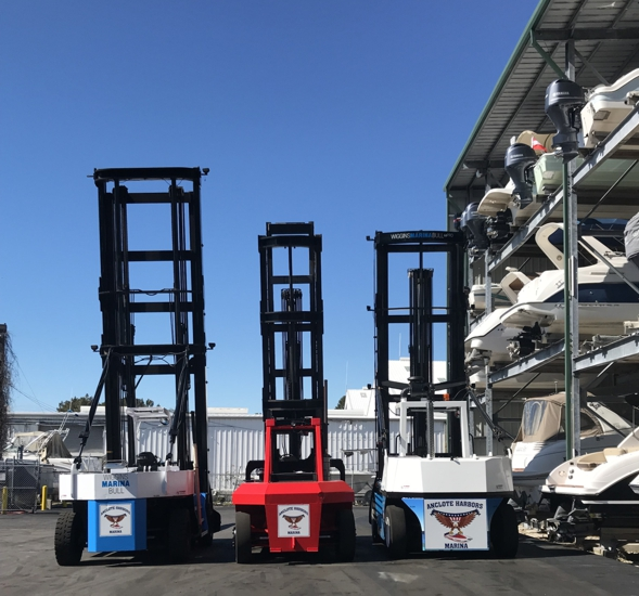 Anclote Harbors Boat Forklift